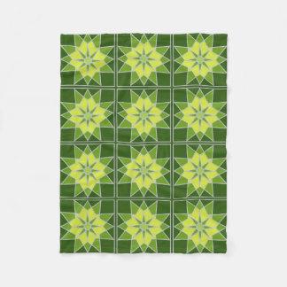 Mosaic pattern custom fleece blanket
