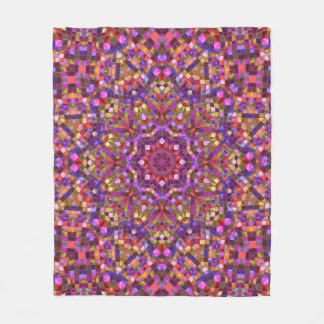 Mosaic Pattern Custom Fleece Blanket, 3 sizes