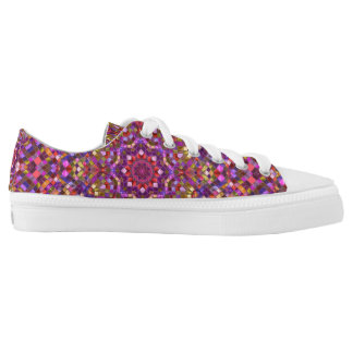 Mosaic Pattern  Custom Low Top Shoes