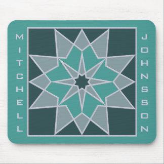 Mosaic pattern custom monogram mousepad