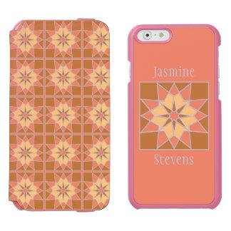 Mosaic pattern custom monogram phone cases incipio watson™ iPhone 6 wallet case