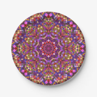 Mosaic Pattern Custom Paper Plates