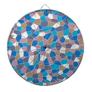 Mosaic Pattern Dartboard With Darts