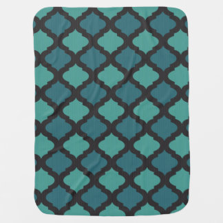 Mosaic pattern in arab style baby blanket