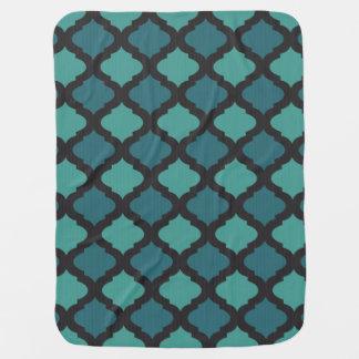Mosaic pattern in arab style baby blanket