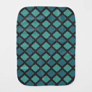 Mosaic pattern in arab style burp cloth