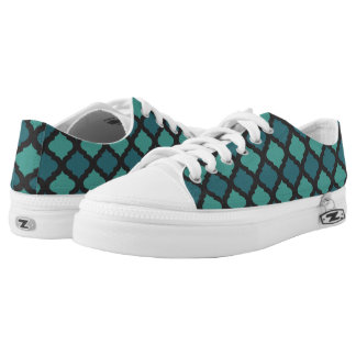Mosaic pattern in arab style low tops