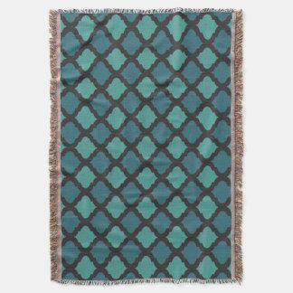 Mosaic pattern in arab style throw blanket