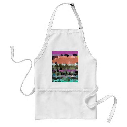 Mosaic Pattern in assorted colours Postage Apron