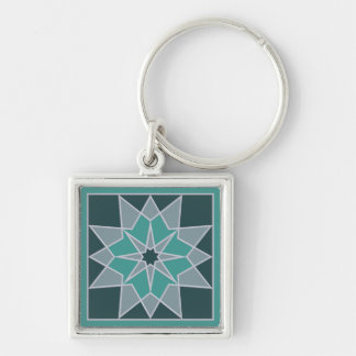 Mosaic pattern key chains