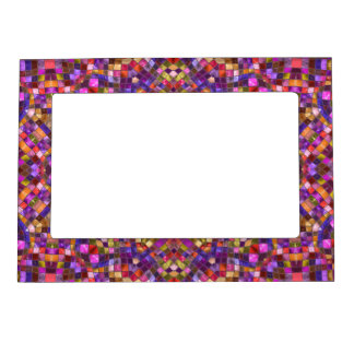 Mosaic Pattern  Magnetic Picture Frames