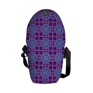 Mosaic pattern messenger bags