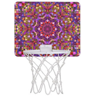 Mosaic Pattern Mini Basketball Goal Mini Basketball Hoop