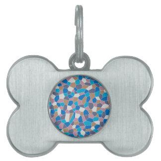 Mosaic Pattern Pet ID Tag