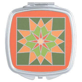 Mosaic pattern pocket mirror compact mirrors