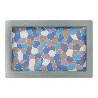 Mosaic Pattern Rectangular Belt Buckles