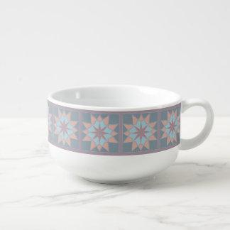 Mosaic pattern soup mug