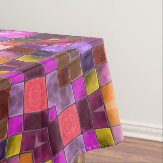 Mosaic Pattern  Vintage Kaleidoscope  Tablecloth