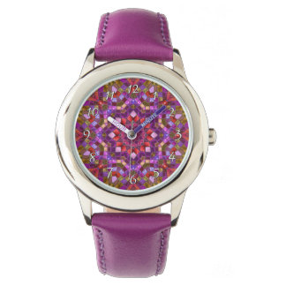 Mosaic Pattern    Vintage Kids Watch
