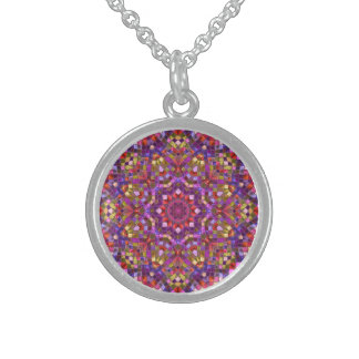 Mosaic Pattern Vintage  Sterling Silver Necklaces