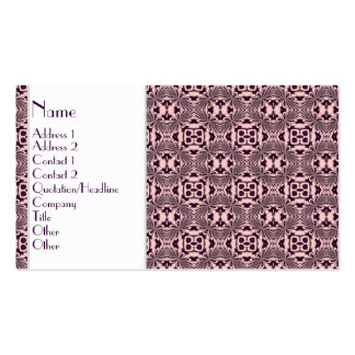 Mosaic pattern Violet Business Cards