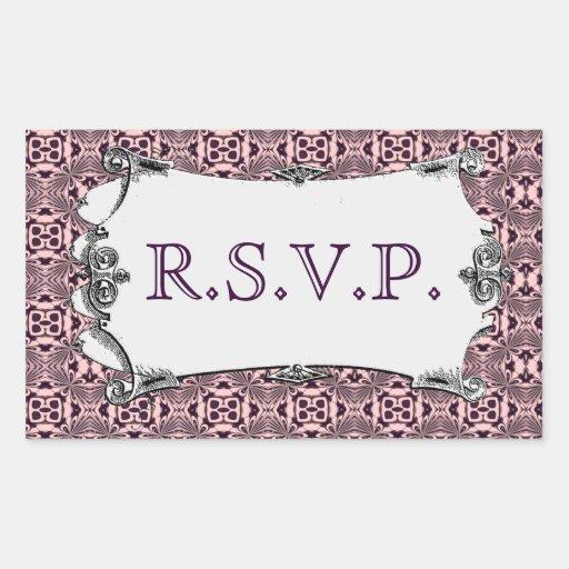 Mosaic pattern (Violet) (Wedding) Rectangle Stickers