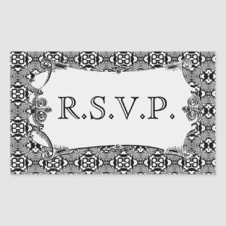 Mosaic pattern (White) (Wedding) Rectangular Sticker