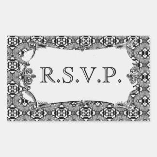 Mosaic pattern White Wedding Stickers