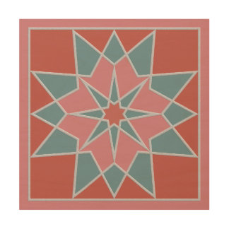 Mosaic pattern wood canvas