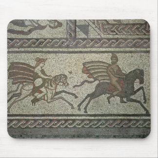 Mosaic pavement from the Roman villa at Low Mouse Mat