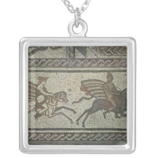 Mosaic pavement from the Roman villa at Low Silver Plated Necklace