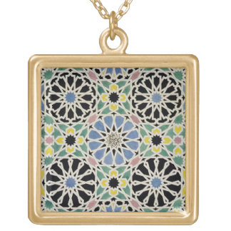 Mosaic Pavement in the Alhambra, from 'The Arabian Gold Plated Necklace