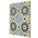 Mosaic Pavement in the Alhambra, from 'The Arabian Stretched Canvas Print