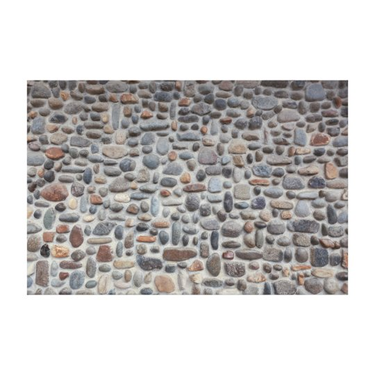 Mosaic Pebble Stone Wall Canvas Print