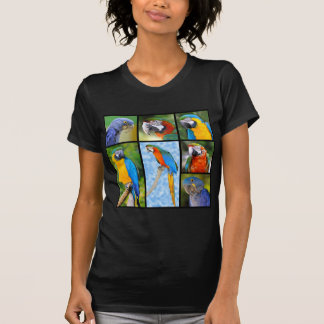 Mosaic photos of parrots tshirt