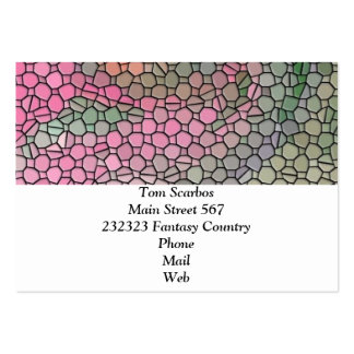 Mosaic,pink Business Card Template