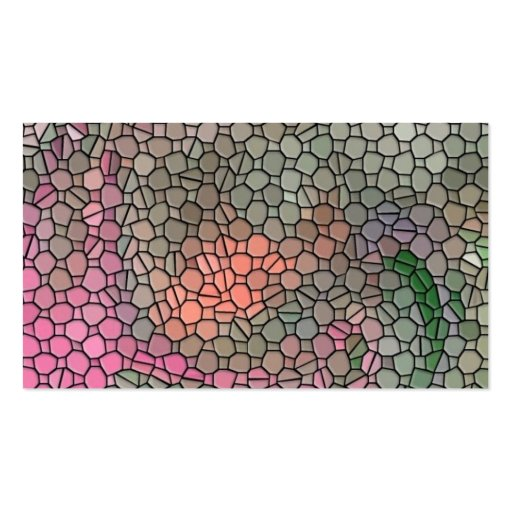 Mosaic,pink Business Cards