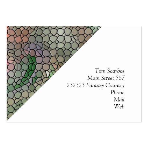 Mosaic,pink Business Card Templates