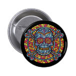 Mosaic Pirate-TIL 6 Cm Round Badge