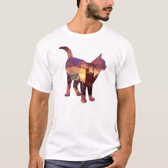 Mosaic Polygon Standing Calico Cat Brown & Tan