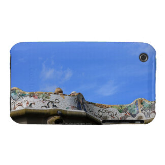 Mosaic railings in Gaudi's Park Guell Case-Mate iPhone 3 Cases