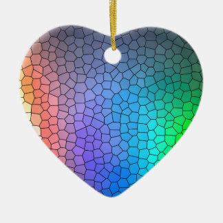 Mosaic Rainbow Christmas Ornament