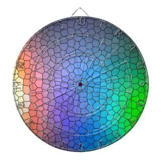 Mosaic Rainbow Dartboard