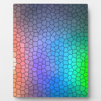 Mosaic Rainbow Display Plaques