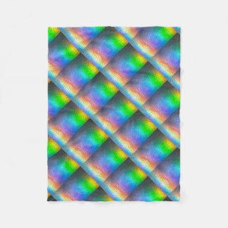 Mosaic Rainbow Fleece Blanket