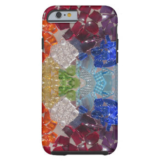 Mosaic Rainbow Glass Shards phone case
