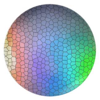 Mosaic Rainbow Plate
