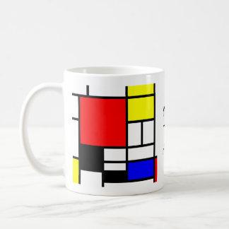 MOSAIC rectangles squares coloured I + your ideas Basic White Mug