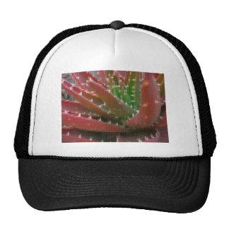 Mosaic Red-Green Aloe 2 Mesh Hat