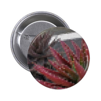 Mosaic Red-Green Aloe 3 6 Cm Round Badge